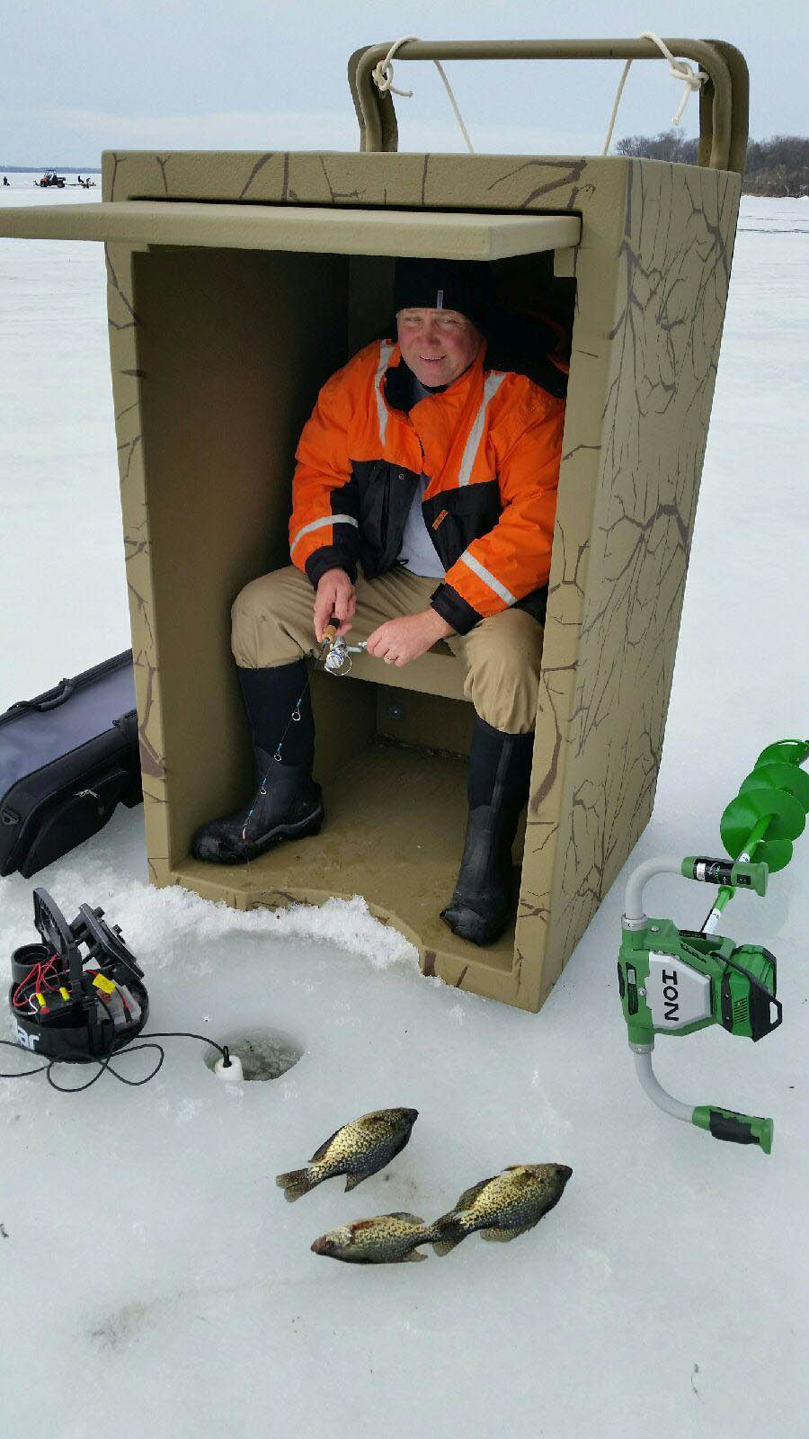 Ice fishing shanty rhino building products inc for New ice fishing gear 2017